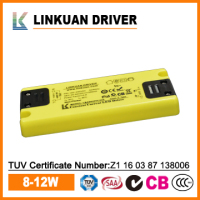 ultra thin led driver for cabinet led light 1.25A 12V constant voltage with TUV certificate model LKAD017V
