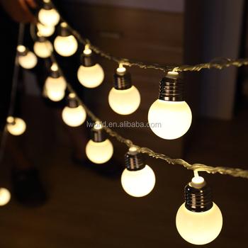Battery AC Plug Power Led Garland 10 20bulb String Party Light For Wedding  Decoration