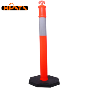 Red Color China High Manufactured Europe Style Pedestrian Post Delineator for Road Safety in Prohibited Areas