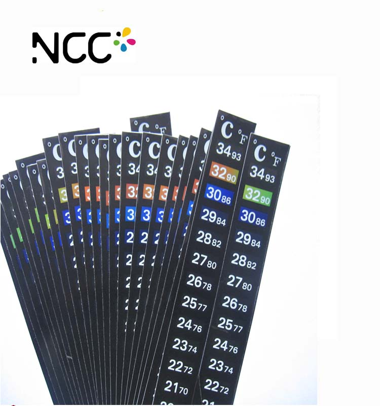 LCD Aquarium liquid crystal thermometer strips with sticker temperature strips