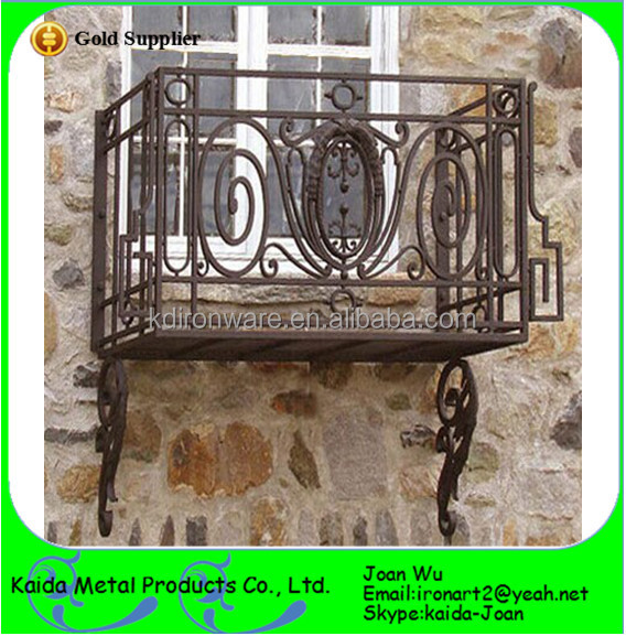 New Ourdoor Wrought Iron Juliet Balcony Railings Design