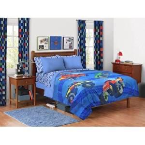 Buy 5 Piece Kids Monster Truck Comforter Twin Set Large