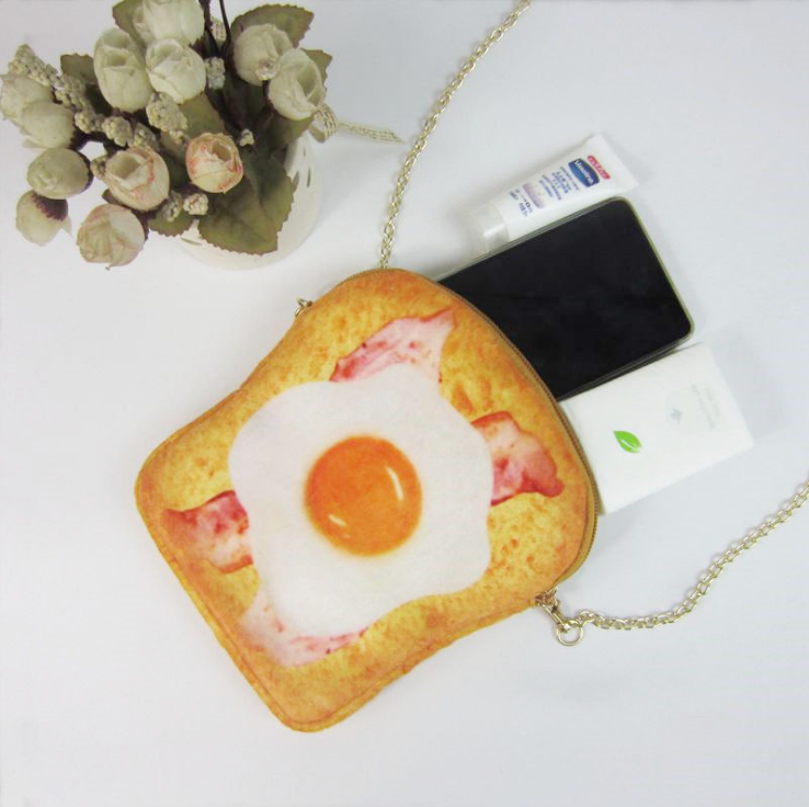 Korean Soft Plush Poached Egg coin purse For Baby Gift