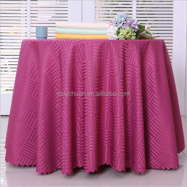 Wholesale Polyester Jacquard Fabric to Make Restaurant Tablecloths