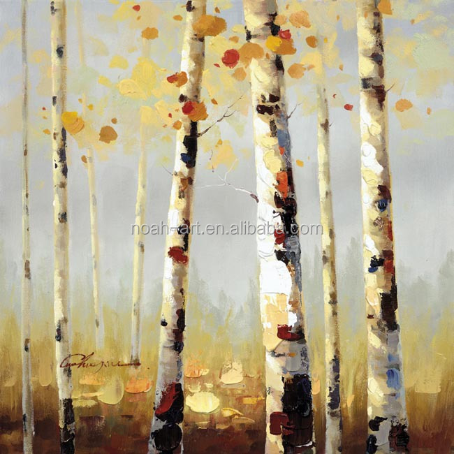 New technique aspen oil painting on canvas by Palette knife