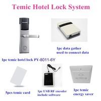 Proyu RFID hotel door lock security system with free software PY-8011-6Y