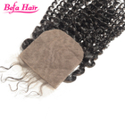 Befa Hair Strong And Durable 4x4Inch Swiss Lace Brazilian Hair deep curl lace closure