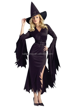 high quality pattern nice halloween costumes witch women costume qawc 8900