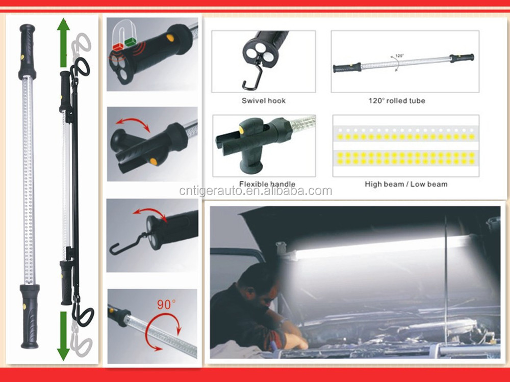 Rechargeable 120 Led Under Hood Work Light Lamp