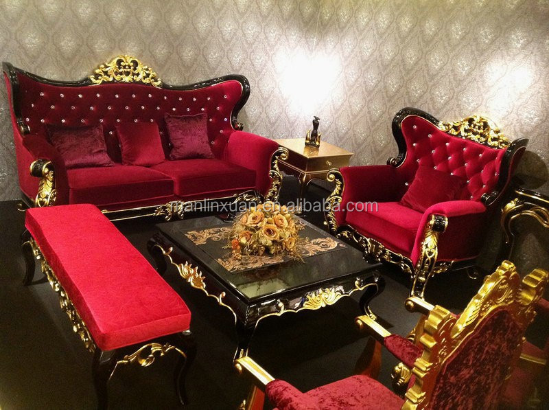 stile antico europeo romantico divano in legno set classico mobili ... - Mobile Soggiorno Antico 2