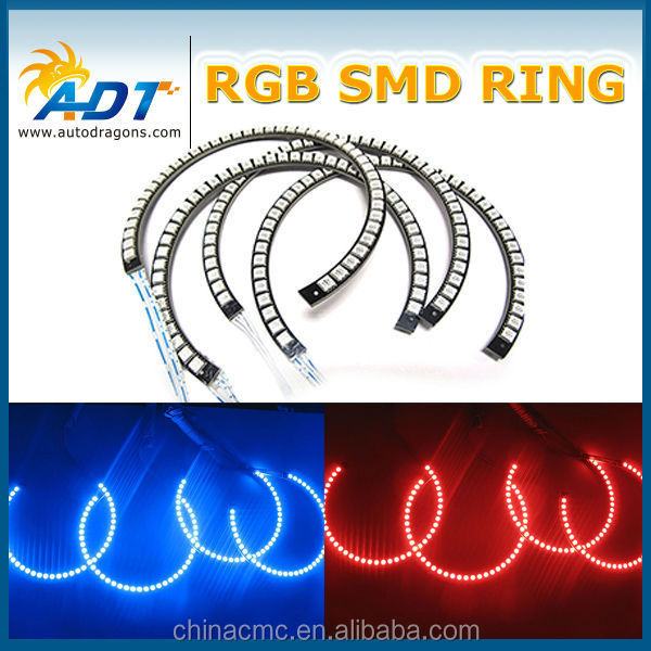 E46 131mm RGB color halo rings led angel eyes