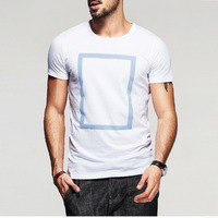Causal wear blank men's 100% cotton printed short sleeve T shirst