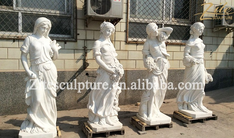 intagliato a mano quattro stagione signora giardino greca statua di marmo prezzi buy product. Black Bedroom Furniture Sets. Home Design Ideas