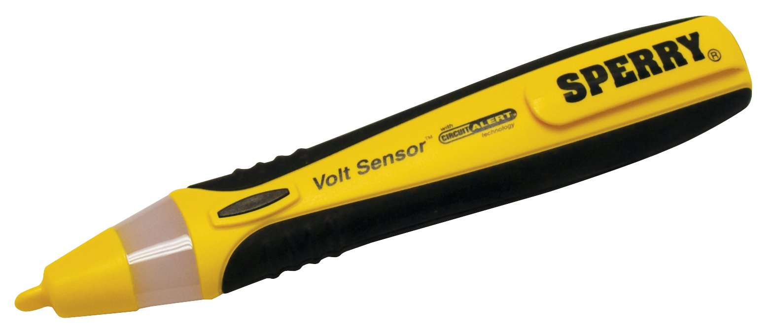 Sperry Instruments VD6504 Non-Contact Voltage Detector, Comfort Grip, 50-1000V AC, 360° LED Light Display, Home/Auto/Professional Electrical Voltage Tester, Yellow & Black