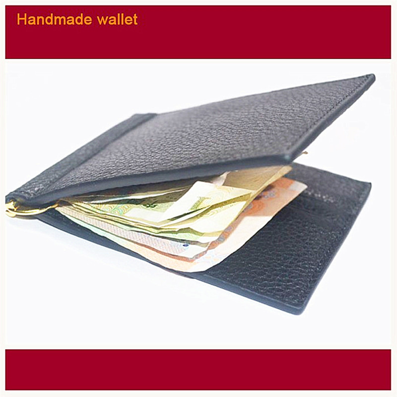 Leather Money Clip Wallet High Quality Clip for money Stainless Steel Money Clips Luxury Men Wallets Fashion Clip Wallet N015