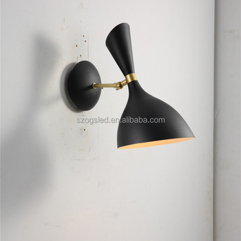 Modern Art Antique Wrought Iron Finish Wall Lamp Black Gold Sconces