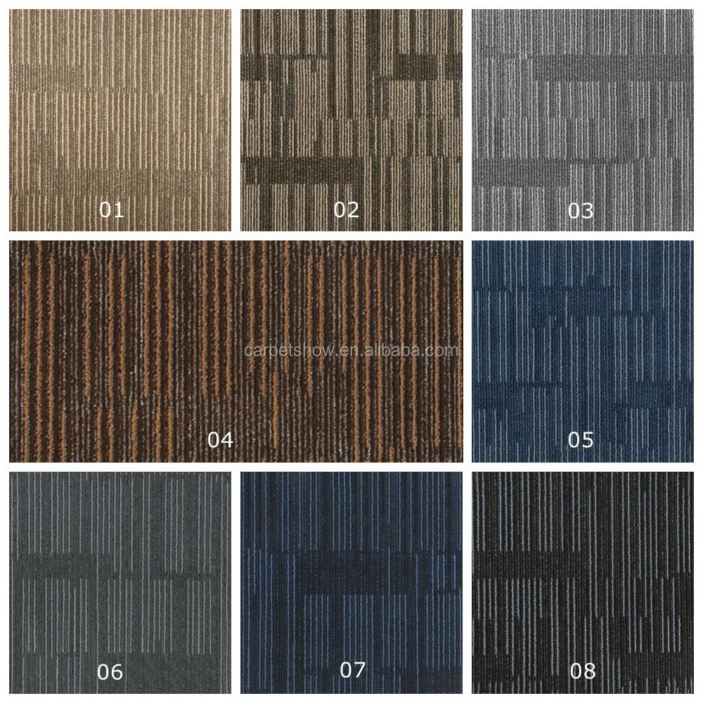 100% PP Fiber Tile Carpet, Modular Carpet For Office Carpet Tiles, PVC  Carpet