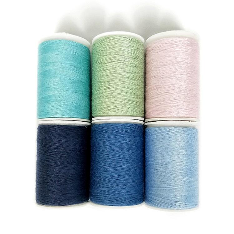 Китай Оптовая поставка закрученная полиэфирная швейная нить 150 ярдов 3 шт в коробке