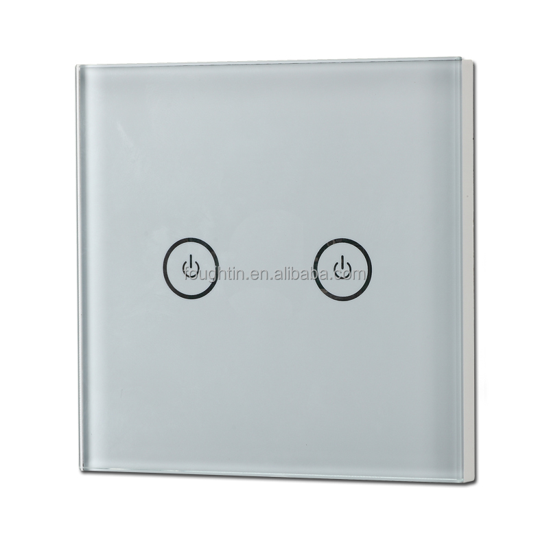 App control touch screen 2 gang smart wall switch