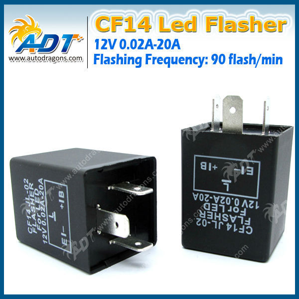 Plastic CF14 led flasher for European car solve turn signal problem