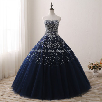 2017 New Design Blue Color Bridal Wedding