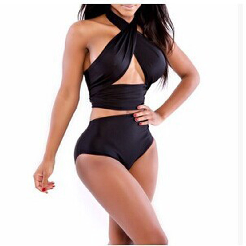 ecba7a28fc Get Quotations · 2015 Hot style skirt wrapped chest bathing suit plus size halter  swimwear piece swimsuit hot springs