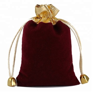 Custom Promotion Drawstring Packaging Luxurious Hanging Jewelry Bag