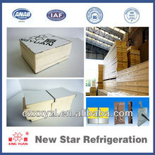 Refrigerator insulation 50mm pu sandwich panel