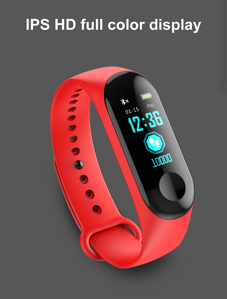 Smart Bracelet W3 Heart Rate Blood Pressure Fitness Tracker Smart Band PK Miband 3