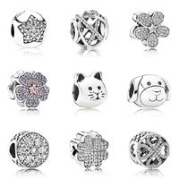 Factory Price charms fit pandoras bead silver 925 diy bead wholesale