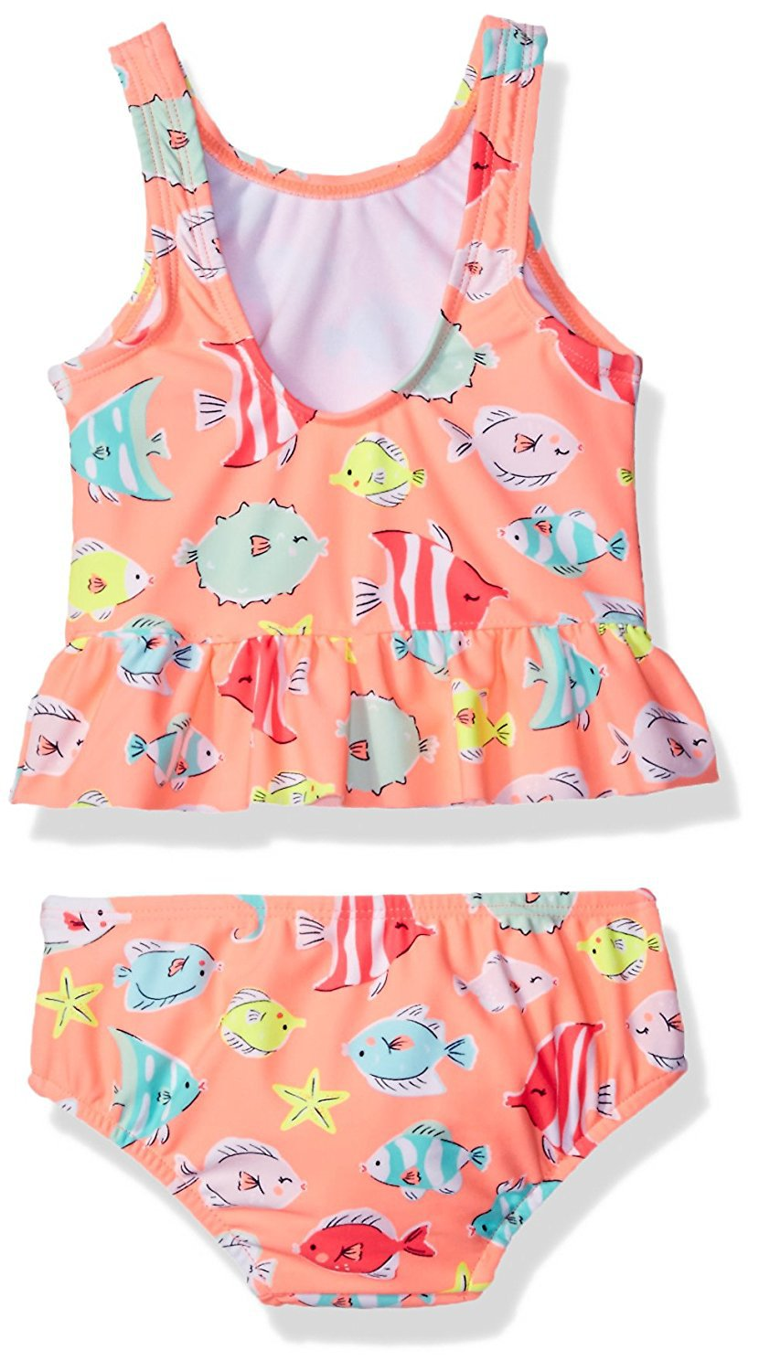 KY wholesale OEM Non-padded cups 2 pieces set flower print crew neck girl kids swimsuit
