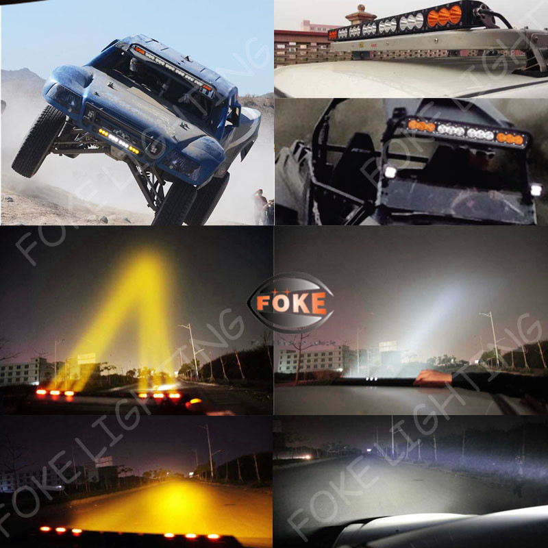 10w amber led light bar curved 325 inch 10w 180w 4x4 curved led light bar