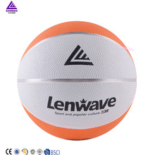 Lenwave brand training basketball wholesale custom colorful rubber mini basketball