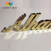 Custom Stainless Steel Small Metal 3D Mirror Letters Signage Free Standing Letters