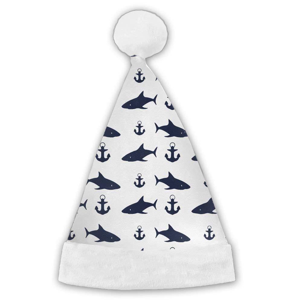 PengMin Happ Shark Luminous Pattern Christmas Hats Adult and Kid Santa Hat
