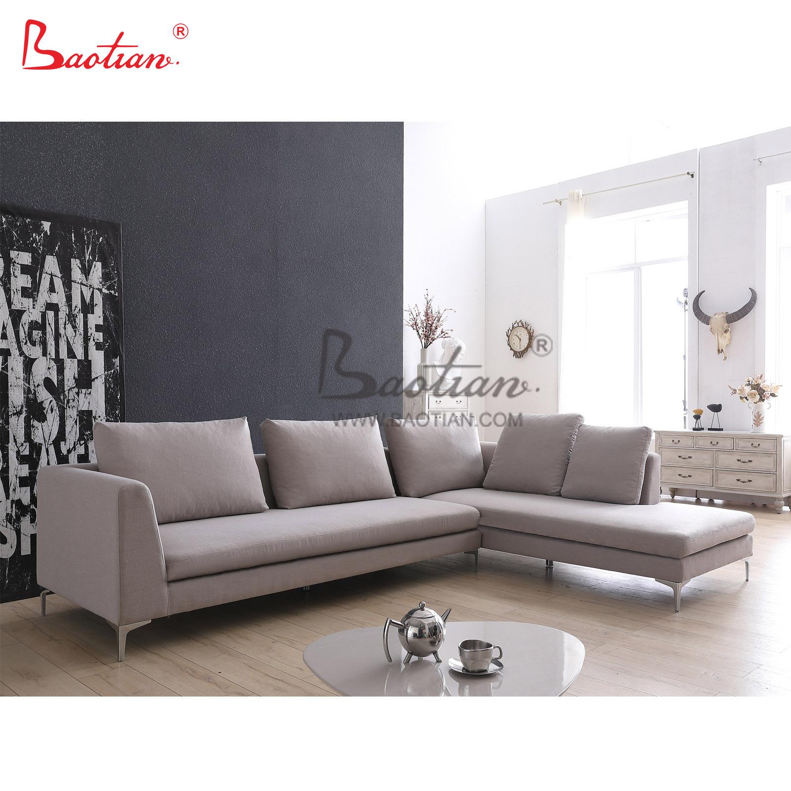 Picture of: Baotian Furniture 2020 Modern Living Room Furniture Velvet Fabric Corner Sofa Buy Modern Sofas Sectional Sofa Living Sofa Product On Alibaba Com