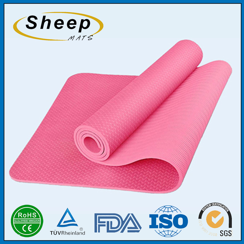 Manufacturer custom super resilient yoga embossing wholesale gym mats