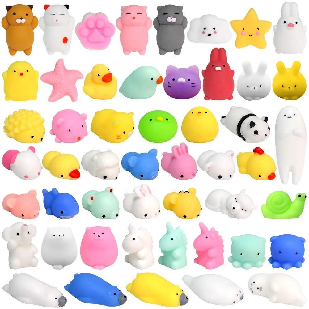 2019 Hot Selling Anti-stress Mini Soft Kawaii Rubber Stretchy Squeeze Mochi Animal Squishy <strong>Toys</strong>