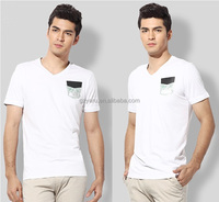 100 combed cotton t shirts blank 100 cotton deep v neck t shirts for men