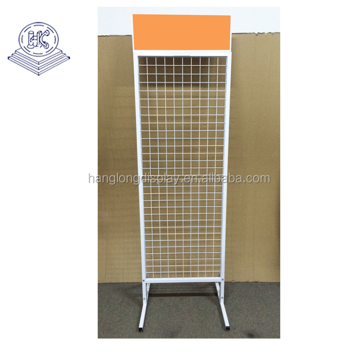 metal wire grid blister pack display stand