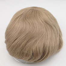 Blonde Toupee for Men Human Hair Replacement Base Size Full Lace Toupee with Thin Skin Pu around