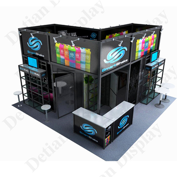 Modular Exhibition Stands Xbox : Detian offer 20x20 trade show booth exhibition stall design display