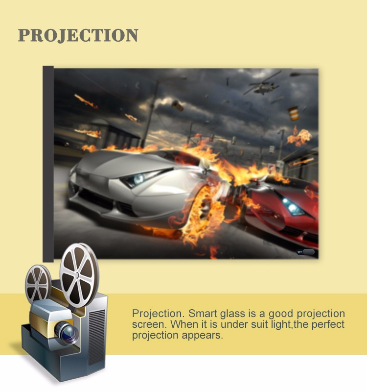 White Switchable Self-adhesive PDLC Smart Glass Film