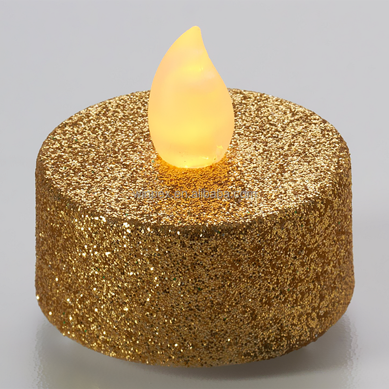 Glitter LED Flameless Tea Light Candles