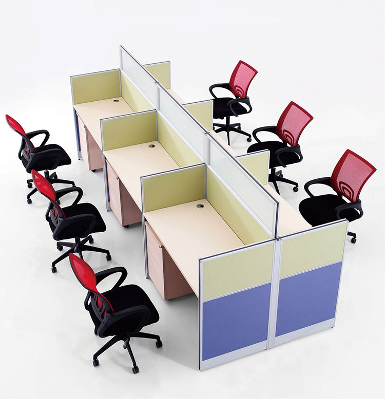 6pax Glass And Melamine Office Furniture For Call Center - Buy ...