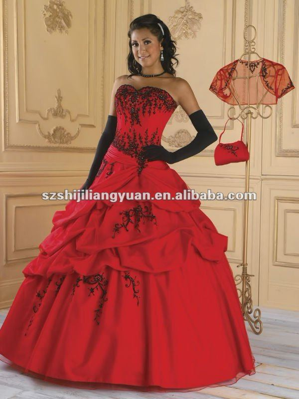 Red dresses in size 14