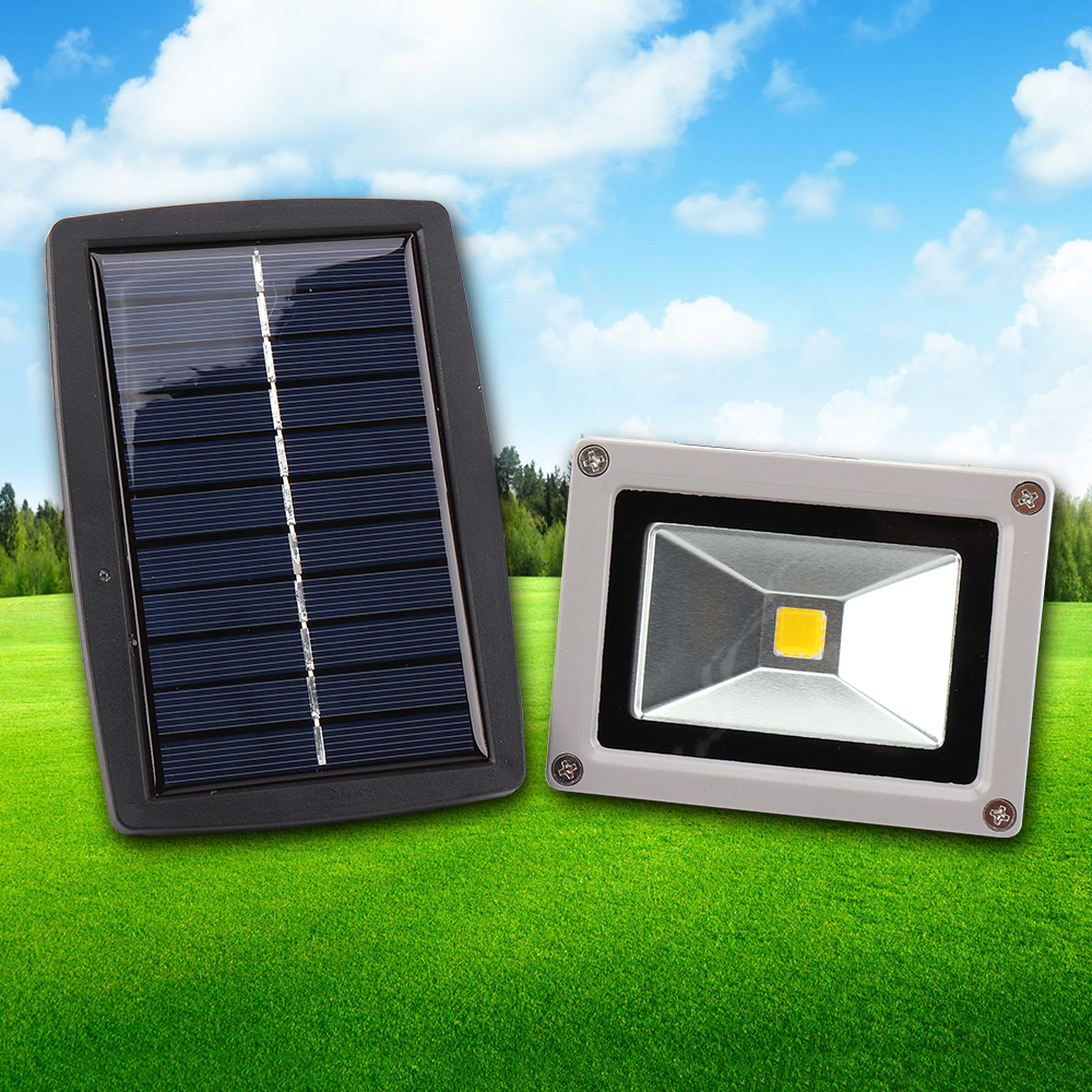 Best Seller Outdoor led flood light 10W Powerful Solar Floodlight Garden lamp Spotlight Warm white