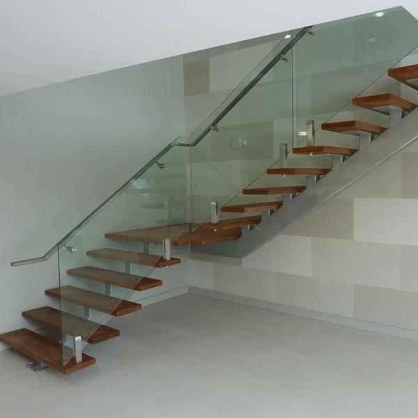 Escalier Simple faisceau unique structure escalier droit simple en bois bande de