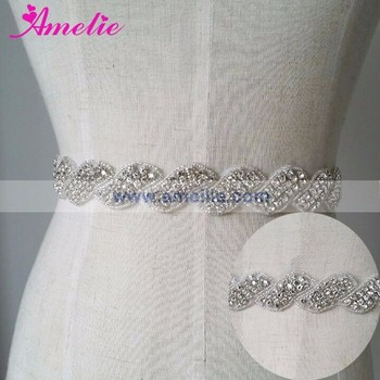 One Piece Dress Accessories Belts AS207 Crystal Rhinestone Wedding Prom Dress Belt