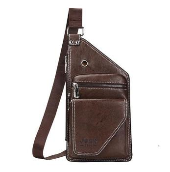 Sl02 Genuine Leather Cross Sling Bag With Earphone Wire Holes High Quality Factory Price Looking For Whole Merchant Mens Anti Theft